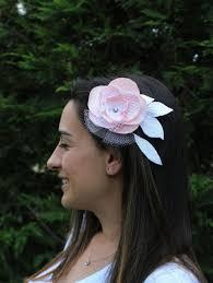 hair corsage bridal flower hairpiece hair fascinator quartz pink