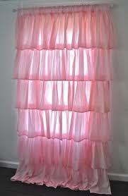 curtain gypsy ruffled curtains ruffle pink light sheer 049