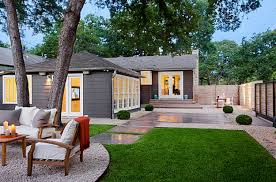 amazing designs of home garden green lawn and comfy outside chairs