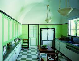 1930s kitchen 1930s kitchen checkerboard floor painted inset cabinets metal