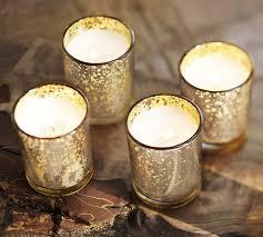 mercury tea light holders mercury glass votive candle set of 6 pottery barn