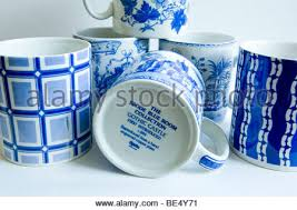 spode mugs from the blue room collection stock photo royalty free