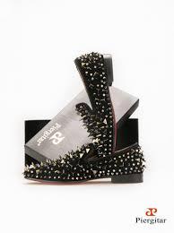 men loafers red bottom men shoes fashion dandelion spikes men