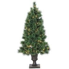 4ft christmas tree sterling 4 ft indoor pre lit deluxe needle pine