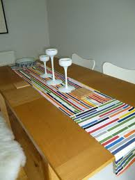 ikea table runners tablecloths table runner with brick inspired ikea fabric sewing projects
