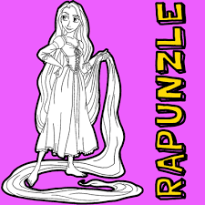 tangled rapunzel archives draw step step drawing tutorials
