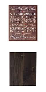 5 year anniversary gift for him 5th anniversary gifts decorations women men 5 year wedding