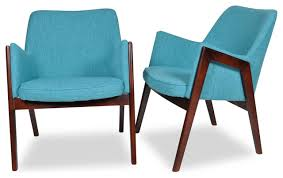 Teal Lounge Chair Jameson Mid Century Modern Lounge Chairs Turquoise Set Of 2