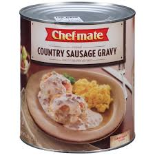 chef mate country sausage gravy 6 56 lb can walmart com