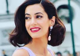 is amal clooney hair one length amal clooney is extremely stylish in first public appearance since