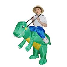 dinosaur halloween costume kids amazon com inflatable dinosaur costume fan operated kids size