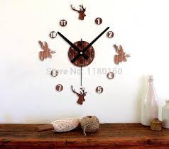 diy deer head wall clock elk reindeer moose head wall watch wood