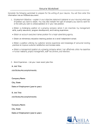 Job Resume Print Out by Resume Worksheet Resume Badak