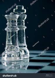 Glass Chess Boards King Queen On Chess Board Macro Stock Photo 1632922 Shutterstock