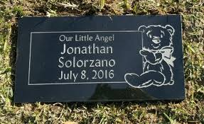 infant headstones baby grave markers by schlitzberger and daughters monument co