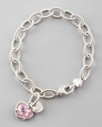 heart bracelet charms images Judith ripka heart charm bracelet in metallic lyst jpeg