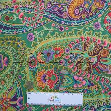 Kaffe Fassett Home Decor Fabric Kaffe Fassett Paisley Jungle Green Gp60 Quilt Fabric By The
