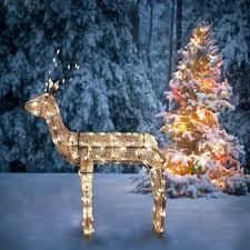 lighted reindeer northlight 3 d glitter animated standing buck reindeer lighted