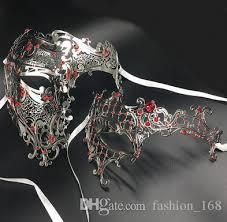 mardi gras skull mask gold metal laser cut half skull eye party masks silver
