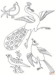 stylised birds coloring page free printable coloring pages
