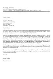 sample cover letter for teaching position with experience 321