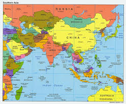 Asia Pacific Map by Download Asia And Australia Map Major Tourist Attractions Maps