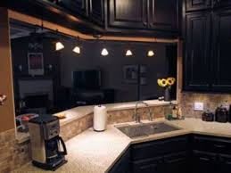 kitchen ideas with white counters and black cabinets best