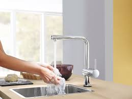 grohe minta sink tap pull out spout extractable mousseur chrome
