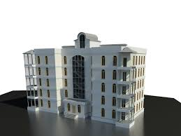 3d apartment building arhitecture cgtrader