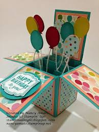 how to make handmade pop up birthday cards card design ideas box cube shaped pop up balloons colorful