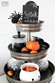 tiered halloween cakes delightful black and white halloween mantel