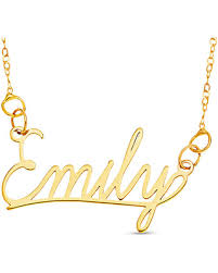 gold necklace with name in cursive amazing deal on cursive name necklace in 10k gold 1 line 16