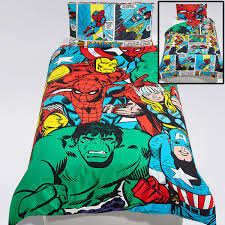 marvel comics girls pastels single duvet cover set spiderman thor