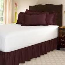 Wrap Around Bed Skirts Bedroom Wonderful Bed Skirts Queen 18 Inch Drop Bedskirt Ikea