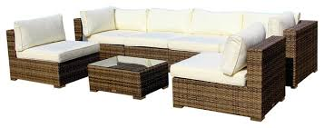 Outdoor Sofa Sectional Set Harbor 7 Piece Outdoor Wicker Sectional Set Contemporary