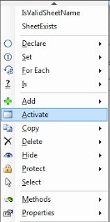 activate a worksheet using vba
