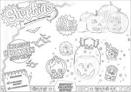 Printable Halloween Pages Shopkins Halloween Coloring Pages Printable