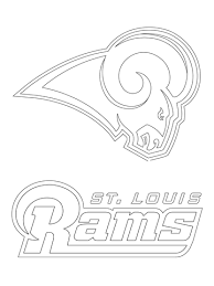 oakland raiders coloring pages st louis rams logo football team coloring page sports