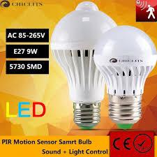 pir led light bulb leds bulb with motion sensor l e27 led light sound light auto