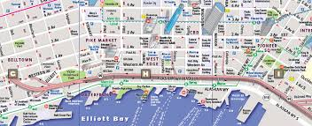 seattle map seattle map by vandam seattle streetsmart map city maps