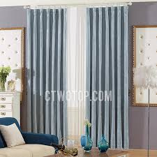 Blue Grey Curtains Chenille Living Room Blackout Blue Grey Curtains