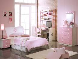 bedroom awesome pink white wood stainless sweet design kidsroom