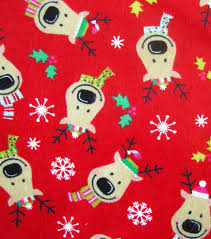 inspirations fabric reindeer on flannel joann