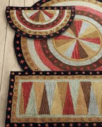 Wool Hand Hooked Rugs 672 Best Hooked Rugs Geometrics Images On Pinterest Rug