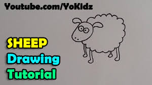 how to draw a cartoon sheep for kids easy and simple youtube