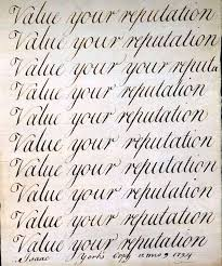 student handwriting samples historical society of pennsylvania