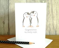 happy engagement card penguin engagement card congratulations card happy