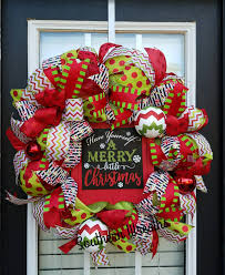christmas mesh wreaths whimsical christmas wreath merry christmas wreath christmas