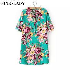 rayon blouse fashion vintage peony flower printed half sleeve cotton