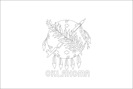 State Flag Meanings Best Photos Of Oklahoma State Flag Outline Oklahoma State Flag